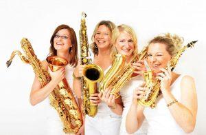 """Sistergold - Saxesse- """"Vier Frauen-vier Saxophone-ein Sound"""" @ Kurtheater bad Wildbad"""
